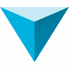 123D logo, an inverted blue pyramid